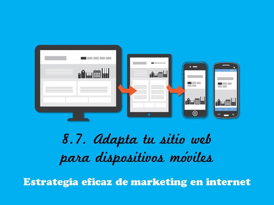 Adapta tu sitio web para dispositivos móviles